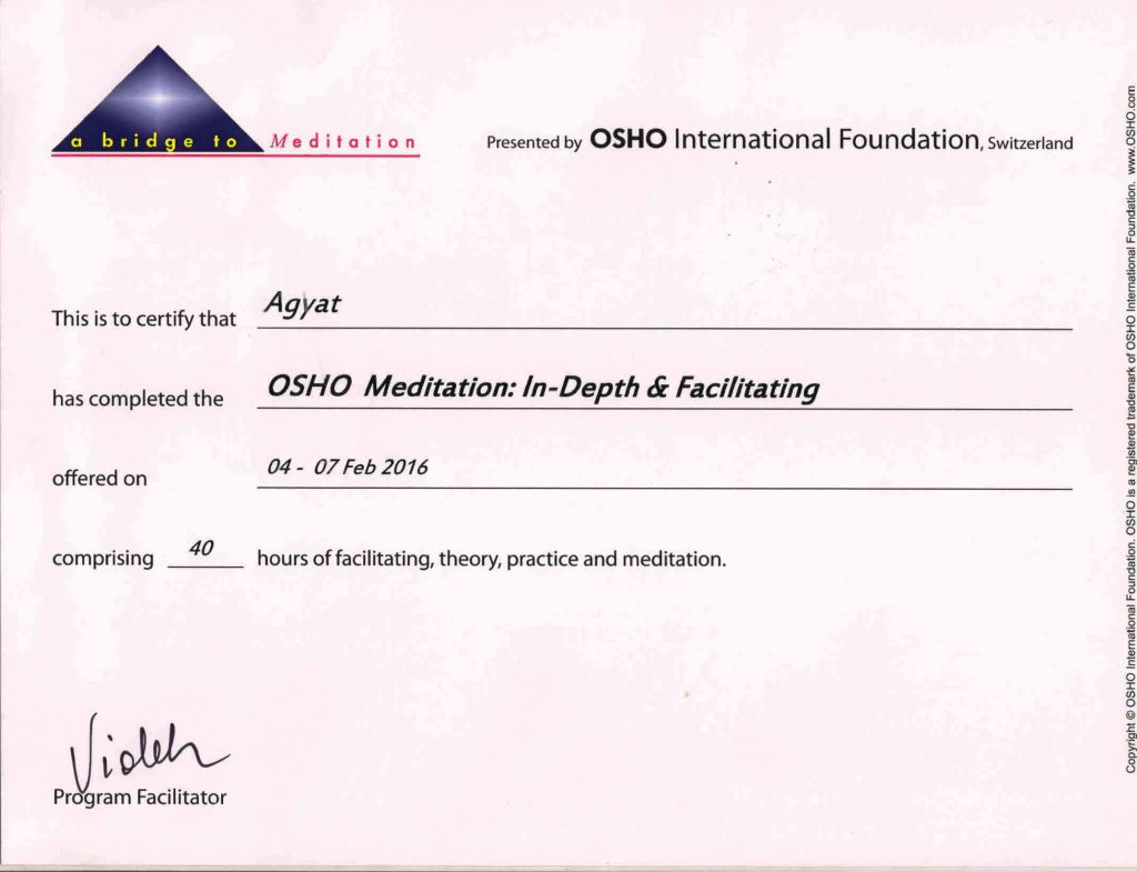 OSHO In Depth Facilitation
